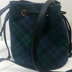 Talbots plaid bucket crossbody bag